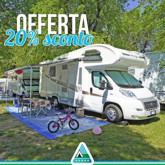 Super offerta last second AGOSTO e SETTEMBRE in PIAZZOLA   in campeggio Lago di Garda