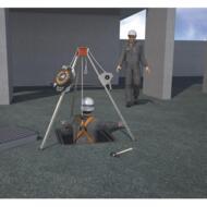 Ponte su ruote HD 1004 e  ACCESSO e RECUPERO in ambienti confinati SENZA INQUINANTI - 03/07/2018