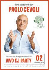 Cena Spettacolo con PAOLO CEVOLI