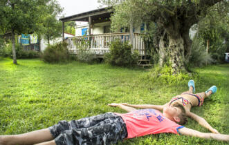 April offer in mobilhome at camping village in Tuscany