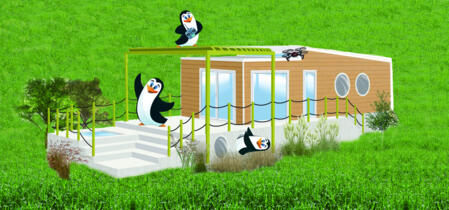 Camping offer in Tuscany with Freddy themed mobile homes for families