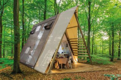 In een glamping tent in Toscane slapen