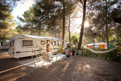 Early summer camping weekend in Tuscany