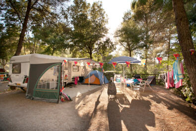 Offer for July in a campsite in Tuscany: pitch with private bathroom