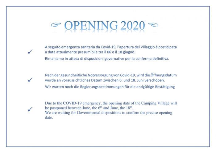 Apertura 2020 - Öffnung 2020 - Opening 2020