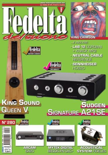 Testina Acoustical Systems modello FIDELES - Testata sulla rivista Fedeltà del Suono