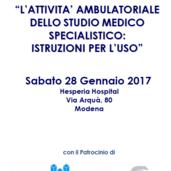 L'ATTIVITA' AMBULATORIALE DELLO STUDIO MEDICO SPECIALISTICO