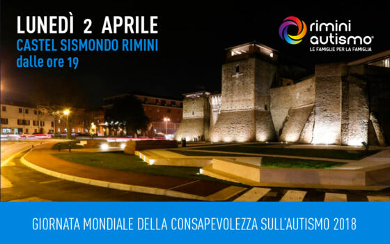 A Rimini, Castel Sismondo si colora di blu