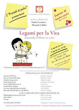 Commedia Legami per la Vita - 6 e 7 aprile
