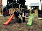 A Villa Del Bianco di Misano Adriatico un nuovo gioco da giardino dono di Cerved