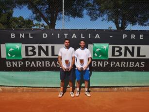 Federico Bertuccioli vince il doppio con Tommaso Roggero nell'Open BNL del Circolo Tennis Bari