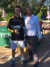 Alessandro Falcucci conquista da dominatore il torneo di terza categoria del Tennis Viserba