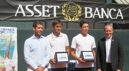 ASSET BANCA Junior Open: De Rossi and Bertuccioli triumph in doubles.