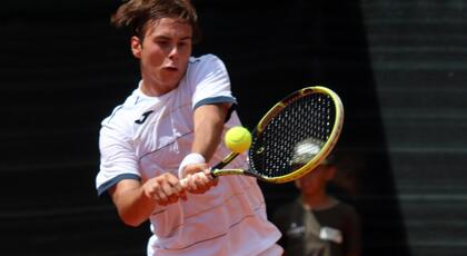 ITF Junior Kranj: De Rossi flies in the quarterfinals.