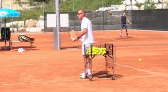 Corrado Barazzutti ospite della San Marino Tennis Academy.
