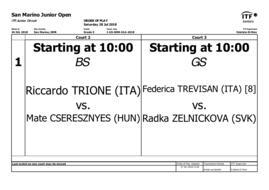 San Marino Junior Open: si assegnano i titoli.
