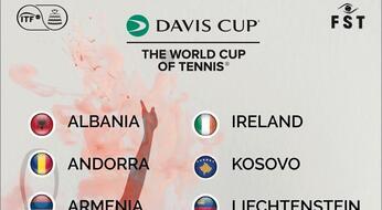 Davis Cup: San Marino sconfitta (1-2) dall'Irlanda. Ora in campo contro Malta.