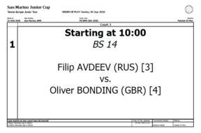 San Marino Junior Cup Under 14: questa mattina si chiude con il titolo maschile