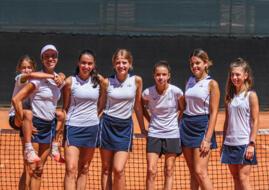 Promozione in Serie D2 per le ragazze della Scuola Federale Tennis di San Marino