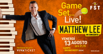 Venerdì sera Matthew Lee in concerto al Campo Bruno Reffi