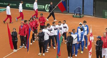 The Davis Cup is back in San Marino.