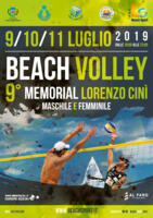 TORNEO DI BEACH VOLLEY - 9° MEMORIAL LORENZO CINI