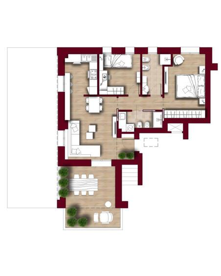 TIPOLOGIA D10 piano terzo attico