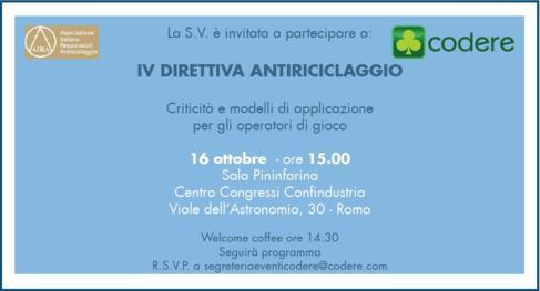 IV Direttiva Antiriciclaggio