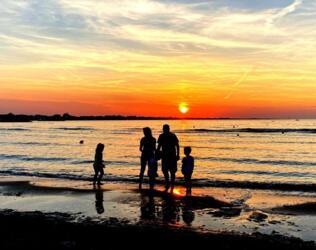 Ferragosto Woche in Rimini in einem Hotel am Strand, all inclusive
