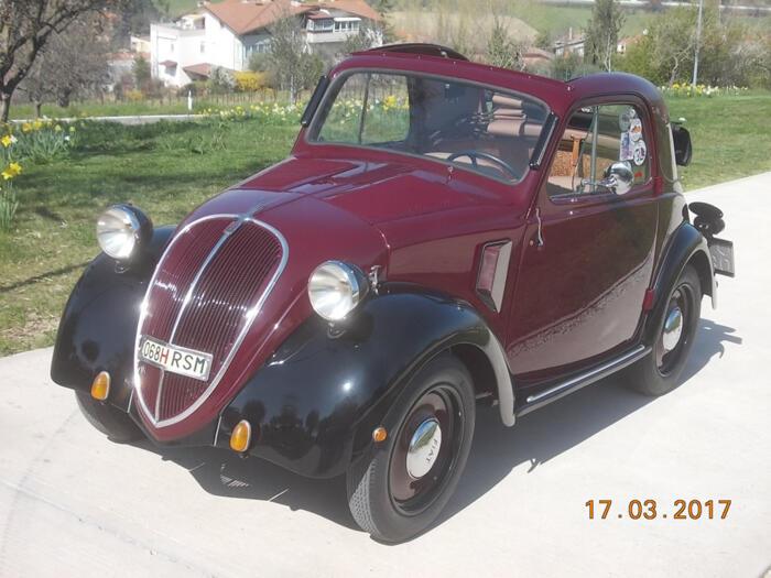 Restauro Fiat Topolino A del 1945