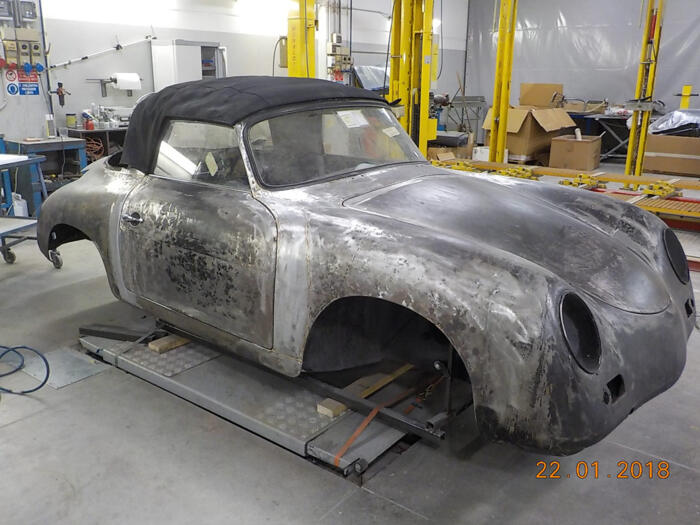 Restauro carrozzeria Porsche 356 A Cabrio 1957