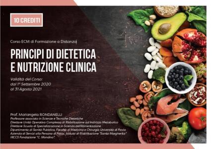Corso ECM di Formazione a Distanza: PRINCIPI DI DIETETICA E NUTRIZIONE CLINICA