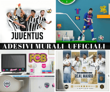 Official wall stickers of football clubs