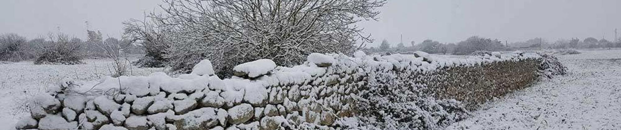 Neve in Salento e le vacanze invernali in Salento sempre più in voga.