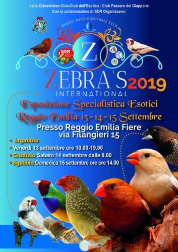 Zebra's International 2019 - Esposizione Ornitologica - REGGIO EMILIA