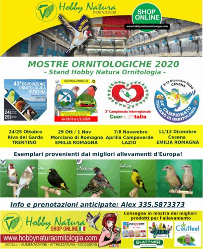 Mostre Ornitologiche 2020 con stand Hobby Natura Ornitologia