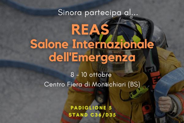 SINORA al REAS con le ultime novità tecnologiche per affrontare le nuove sfide della gestione dell'emergenza