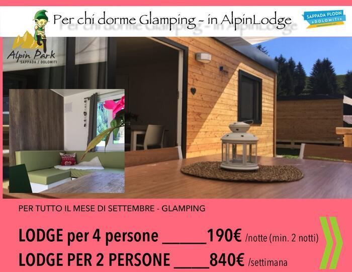 Vacanza Glamping in AlpinLodge - Alpinpark Sappada Dolomiti