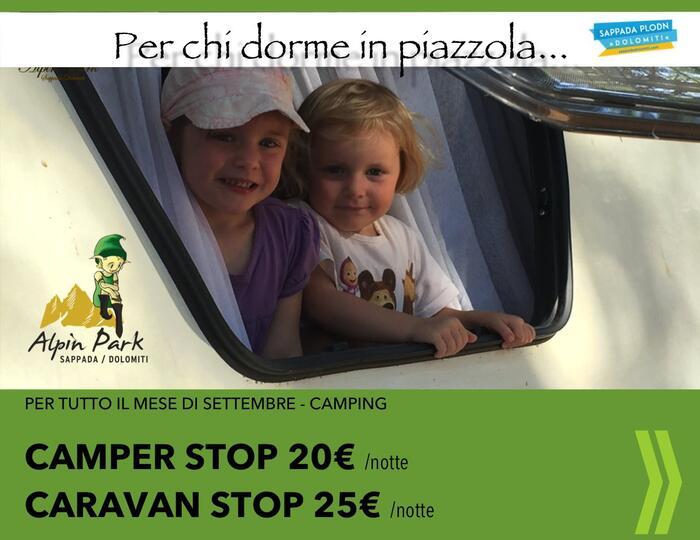 CAMPERSTOP 20€ a Sappada