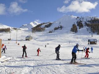 Lo sci a Sestriere in una bellissima giornata di sole