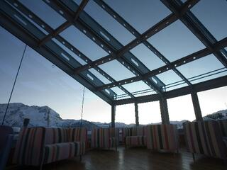 Tower Lounge-Bar Shackleton, der Moment des Sonnenuntergangs ... ist der magische Moment ...