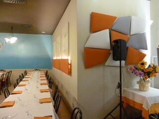 Ristorante a Rimini realizzato con fonoassorbenza Flap e Mitesco