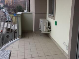 terrazzo di uno degli appartamenti del Residence Luna di Monza