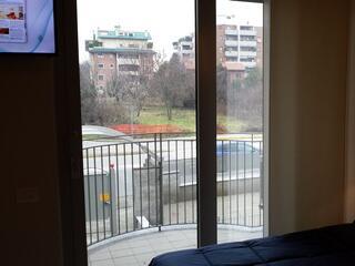 uno dei terrazzi del Residence Luna di Monza