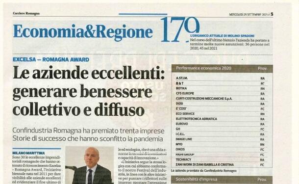 PREMIO CONFINDUSTRIA EXCELSA 2021 AZIENDE ECCELLENTI