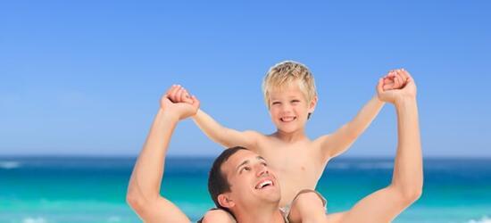 Vacanze al mare per genitori single