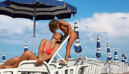 end of July early August in Rimini water park for free