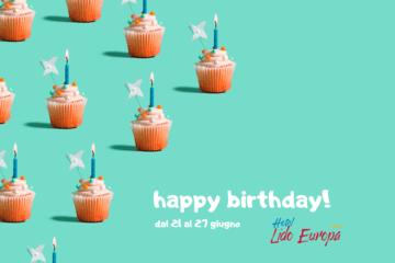 Semaine à prix réduit en juin -10% pour l'anniversaire du Lido Europa!