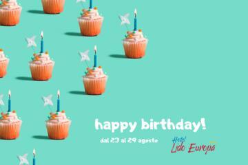 Ermäßigte Augustwoche -10%: Happy Birthday Lido Europa!