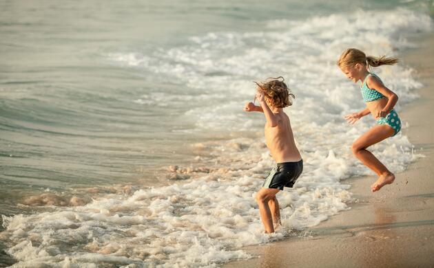 Juin à la mer avec enfants gratuits